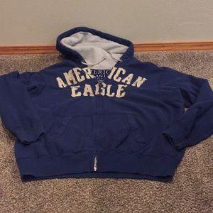 Men's American eagle sweatshirt zipped xxxl